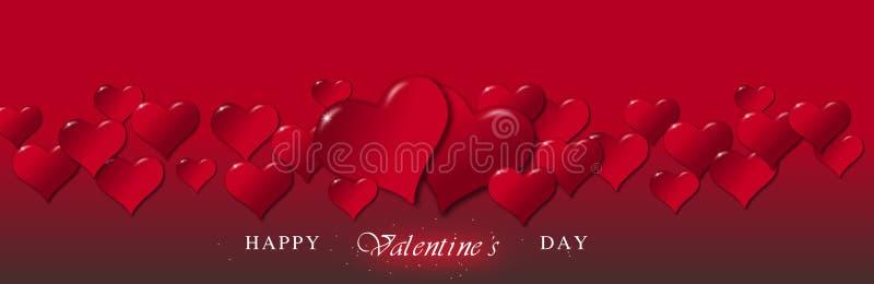 Illustratie van harten voor de Dag van Valentine royalty-vrije illustratie