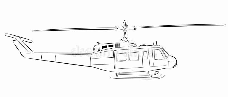 Illustratie van helikopter Vector tekening stock foto