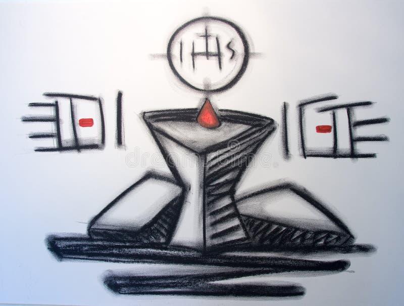 Illustratie van het Avondmaal de godsdienstige symbool royalty-vrije illustratie