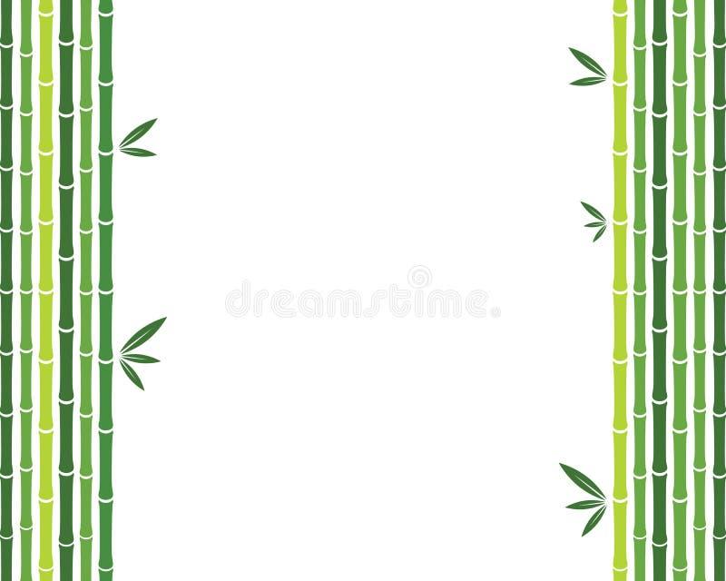 Illustratie van het bamboe de vectorpictogram stock illustratie