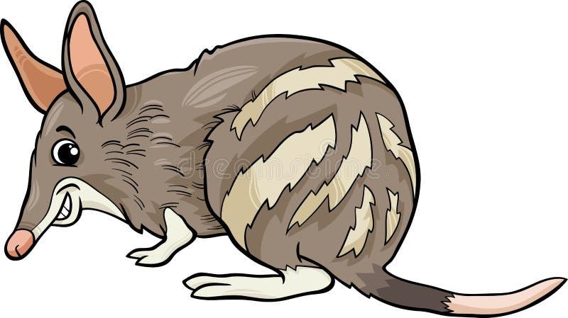 Illustratie van het Bandicoot de dierlijke beeldverhaal stock illustratie