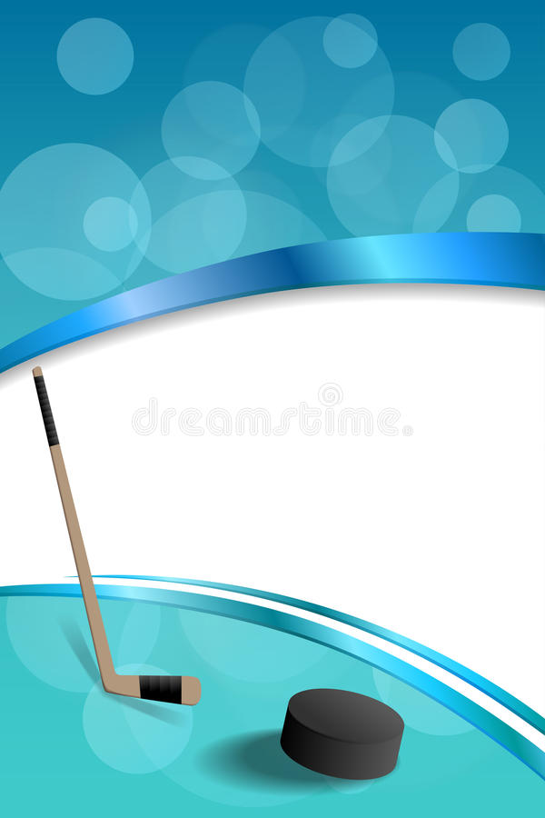 Illustratie van het de puck verticale kader van het achtergrond de abstracte hockey blauwe ijs royalty-vrije illustratie
