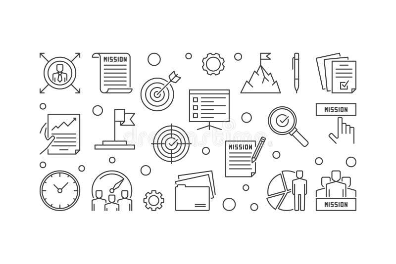 Illustratie van het de Verklarings de vectoroverzicht van de bedrijfopdracht royalty-vrije illustratie