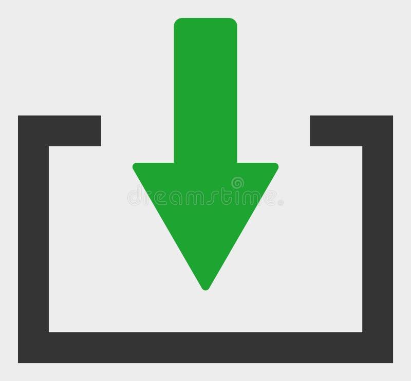 Illustratie van het download de Vectorpictogram stock illustratie