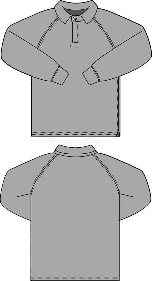 Illustratie van het hemd van de raglans vector illustratie