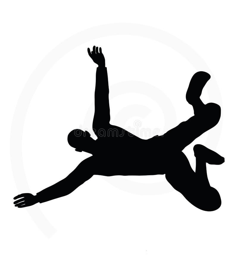 Illustratie van het hogere silhouet van de klimmermens royalty-vrije illustratie