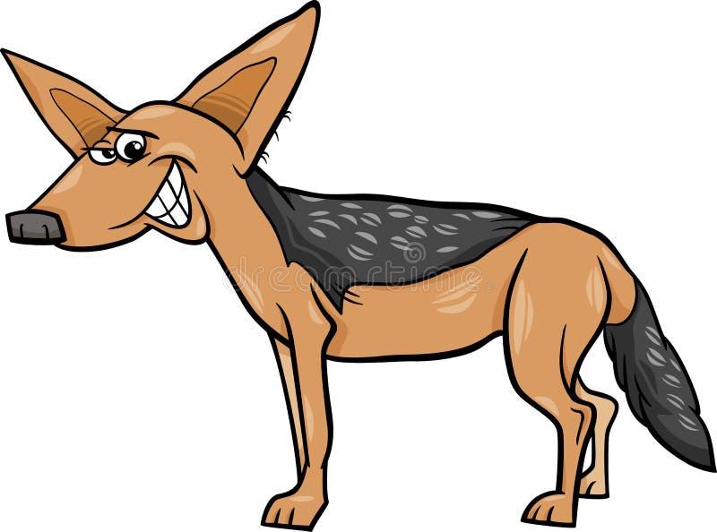 Illustratie van het jakhals de dierlijke beeldverhaal vector illustratie