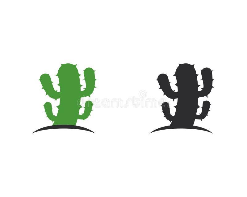 Illustratie van het het malplaatje de vectorpictogram van het cactusembleem stock illustratie