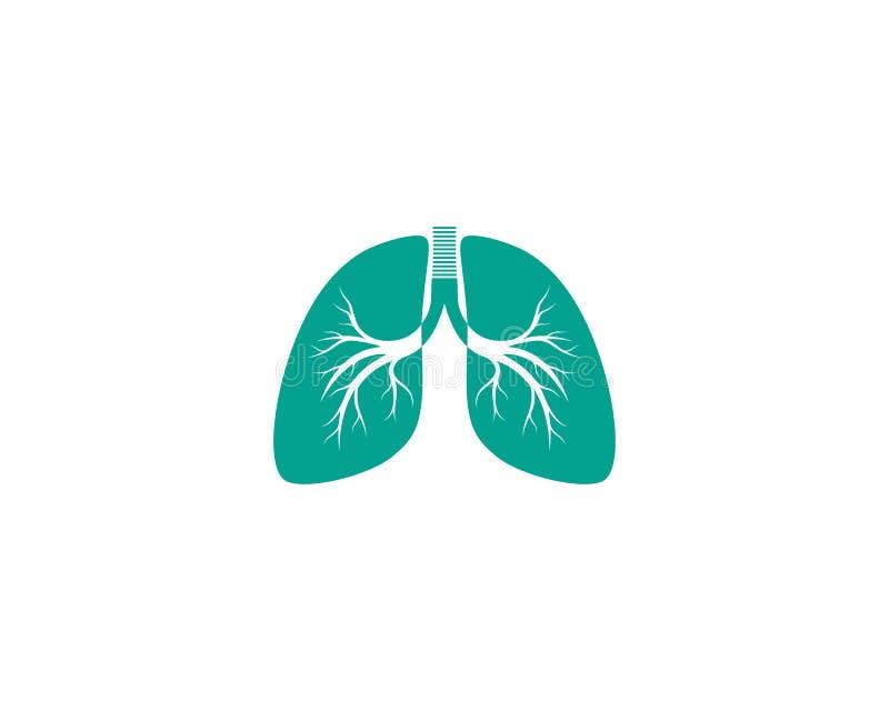 Illustratie van het het malplaatje de vectorpictogram van het longenpictogram stock illustratie