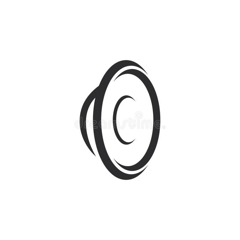 illustratie van het het malplaatje de vectorpictogram van het sprekersembleem stock illustratie