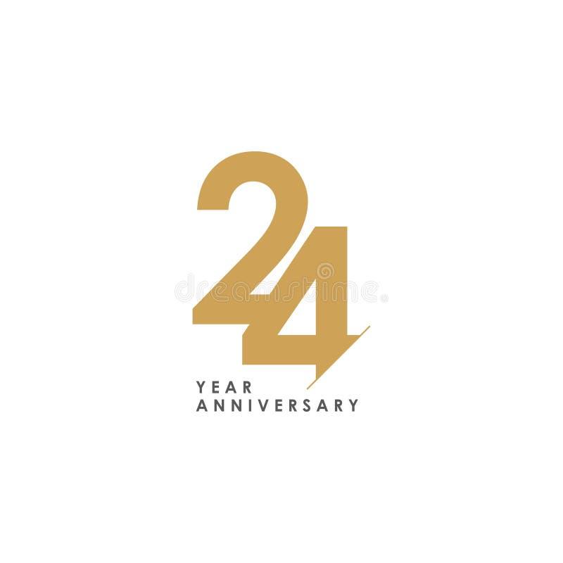 24 Illustratie van het het Malplaatjeontwerp van de jaarverjaardag de Vector vector illustratie