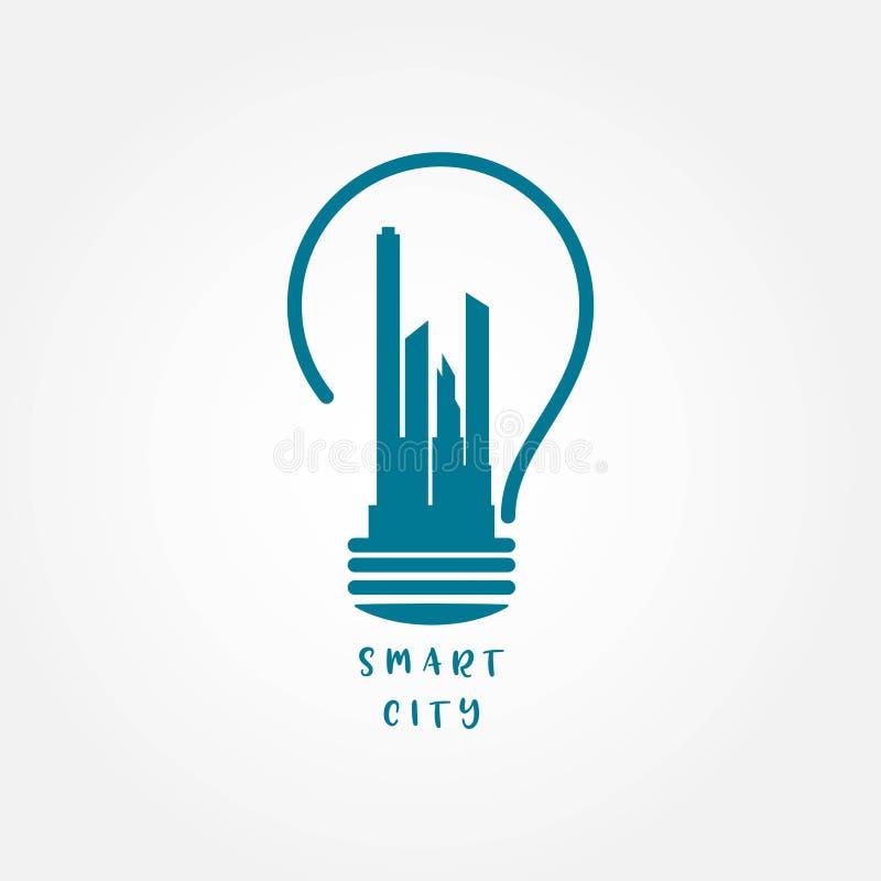 Illustratie van het het Malplaatjeontwerp van Smart City de Vector stock illustratie
