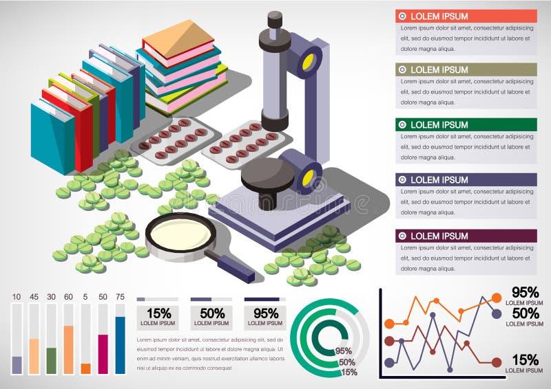 Illustratie van het materiaalconcept van het informatie grafisch geld vector illustratie
