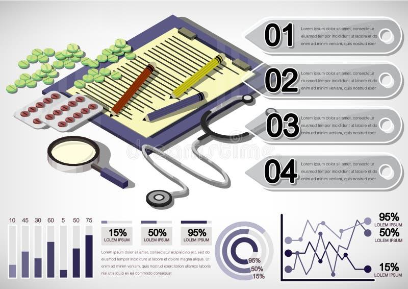 Illustratie van het materiaalconcept van het informatie grafisch geld royalty-vrije illustratie