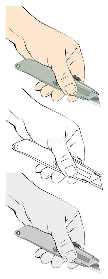 Illustratie van het nutsmes van de handholding vector illustratie