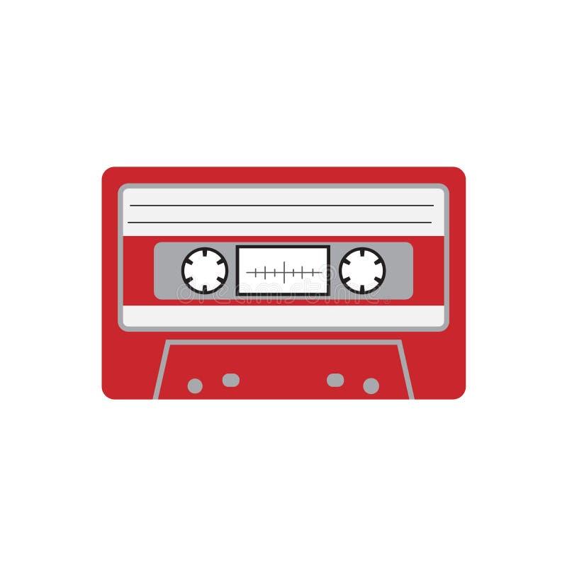 Illustratie van het het pictogram vectorontwerp van de cassetteband de vlakke vector illustratie