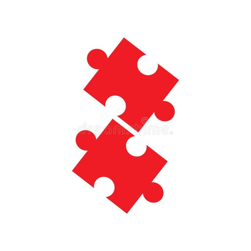 Illustratie van het het Pictogramontwerp van het spelraadsel de vector royalty-vrije illustratie
