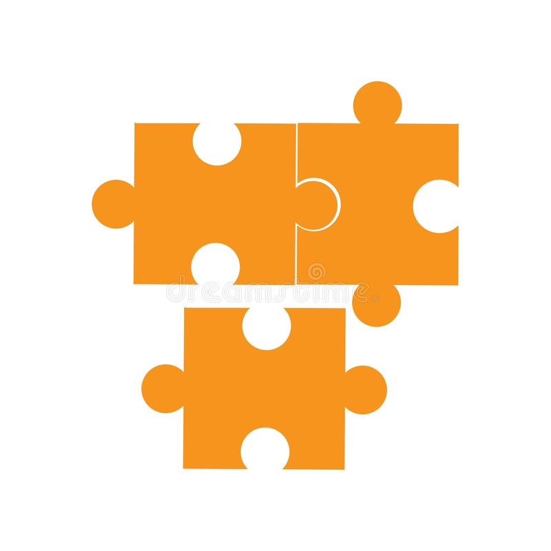 Illustratie van het het Pictogramontwerp van het spelraadsel de vector vector illustratie