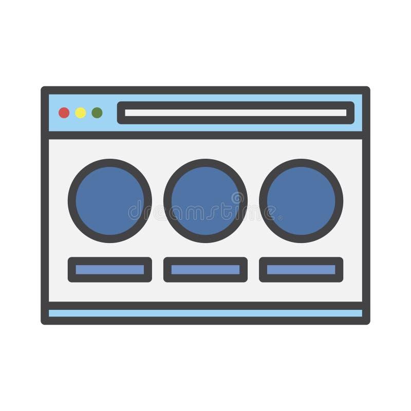 Illustratie van het scherm van technologievensters vector illustratie