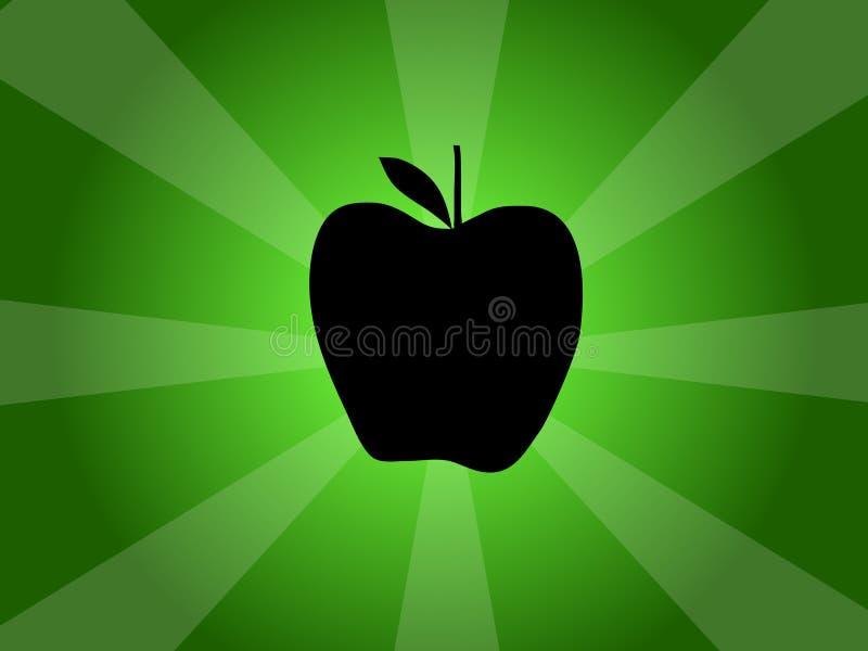 Illustratie van het Silhouet van de appel de Vector royalty-vrije illustratie