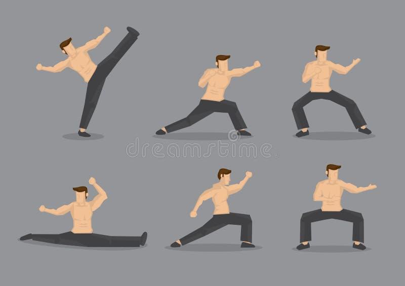 Illustratie van het vechtsporten de Vectorkarakter vector illustratie