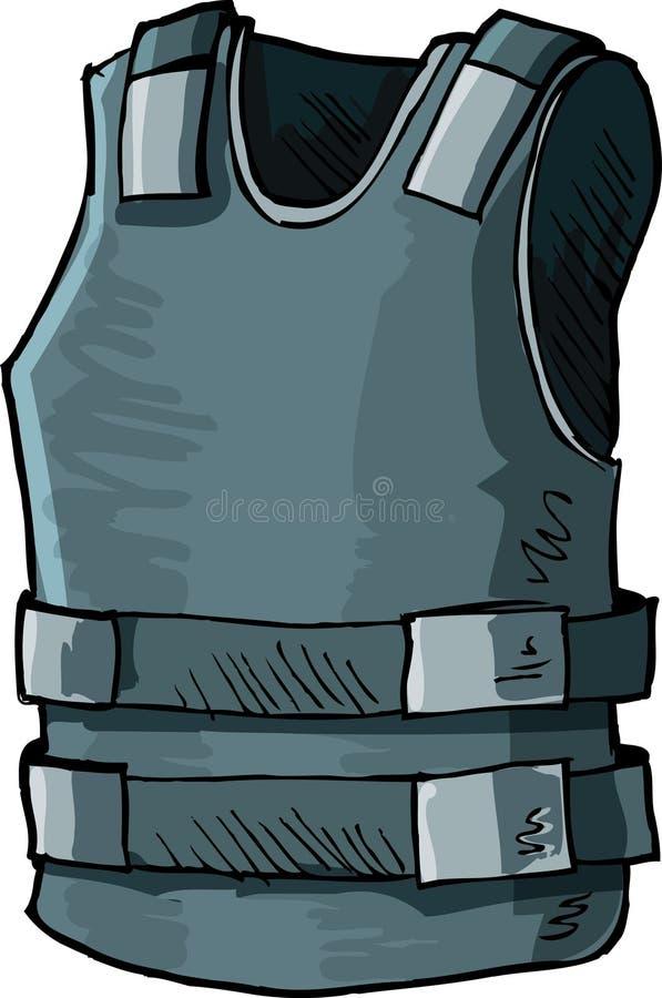 Illustratie van het vest van het kogelbewijs royalty-vrije illustratie