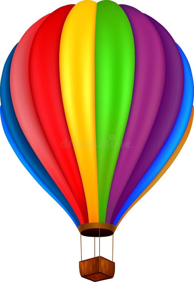 Illustratie van hete lucht baloon royalty-vrije illustratie