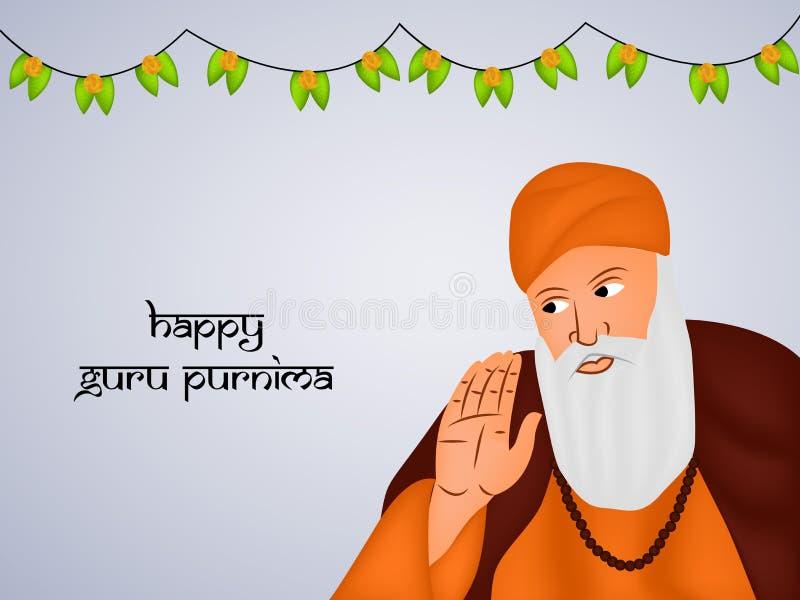 Illustratie van Hindoes festival Guru Purnima Background vector illustratie