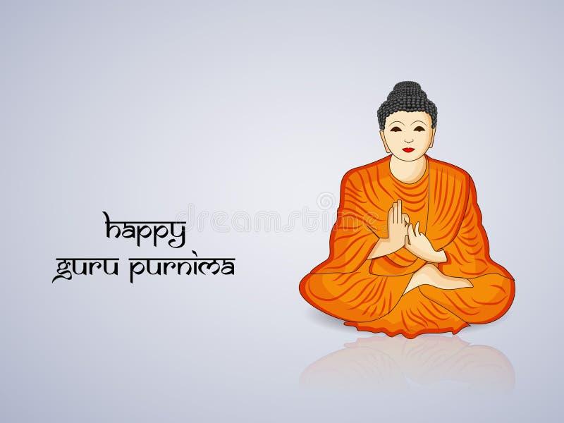 Illustratie van Hindoes festival Guru Purnima Background stock illustratie