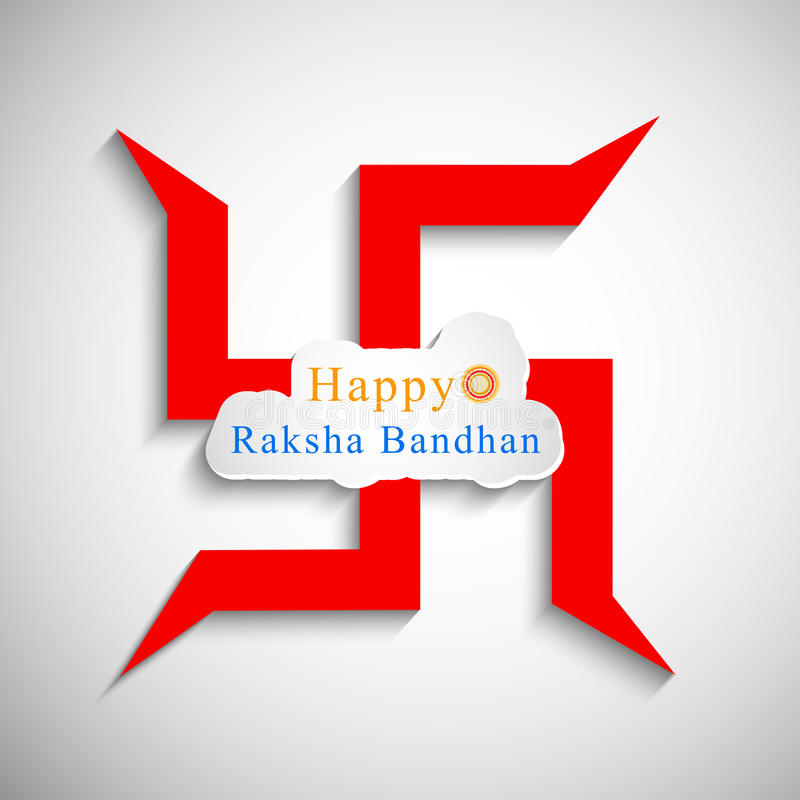 Illustratie van Hindoes Festival Raksha Bandhan Background vector illustratie