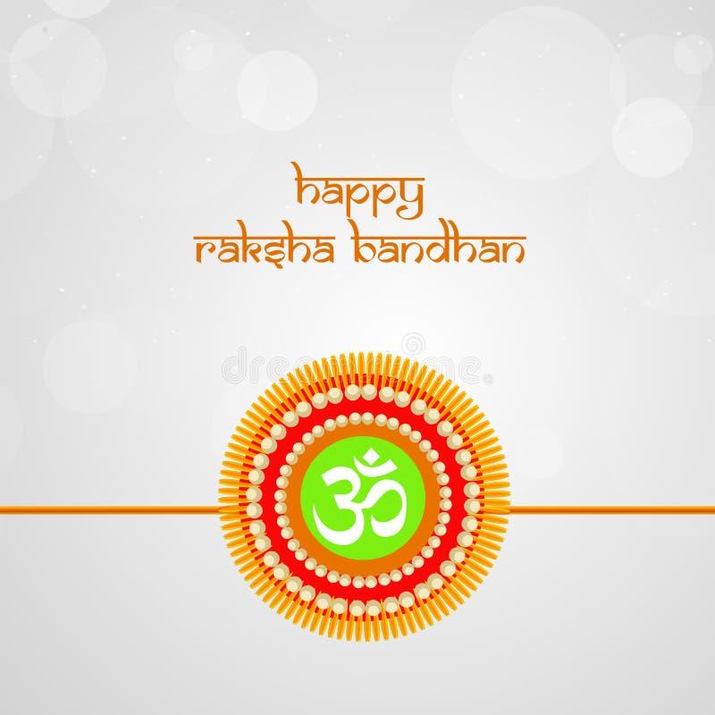 Illustratie van Hindoes Festival Raksha Bandhan Background stock illustratie