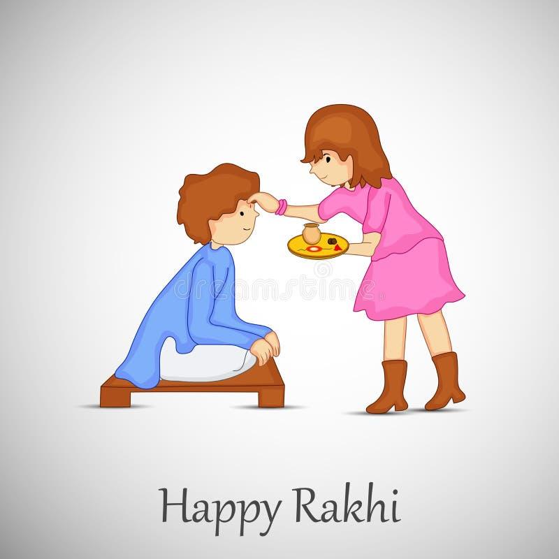 Illustratie van Hindoes Festival Raksha Bandhan Background royalty-vrije illustratie