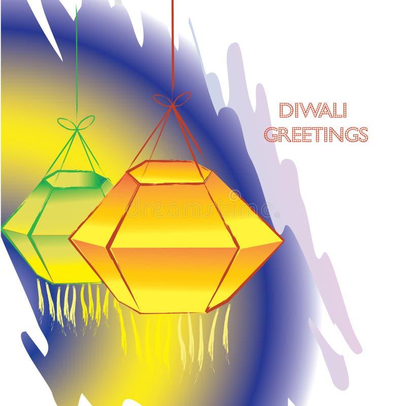 Illustratie van Indisch Diwali-festival stock foto's