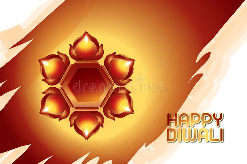 Illustratie van Indisch Diwali-festival royalty-vrije stock foto's