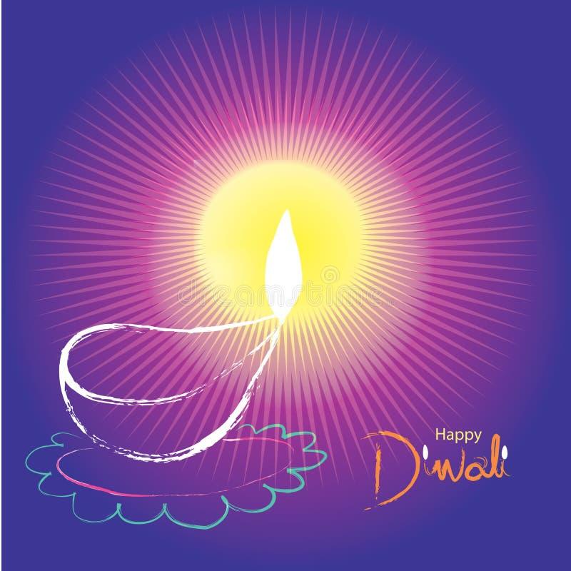 Illustratie van Indisch Diwali-festival stock fotografie