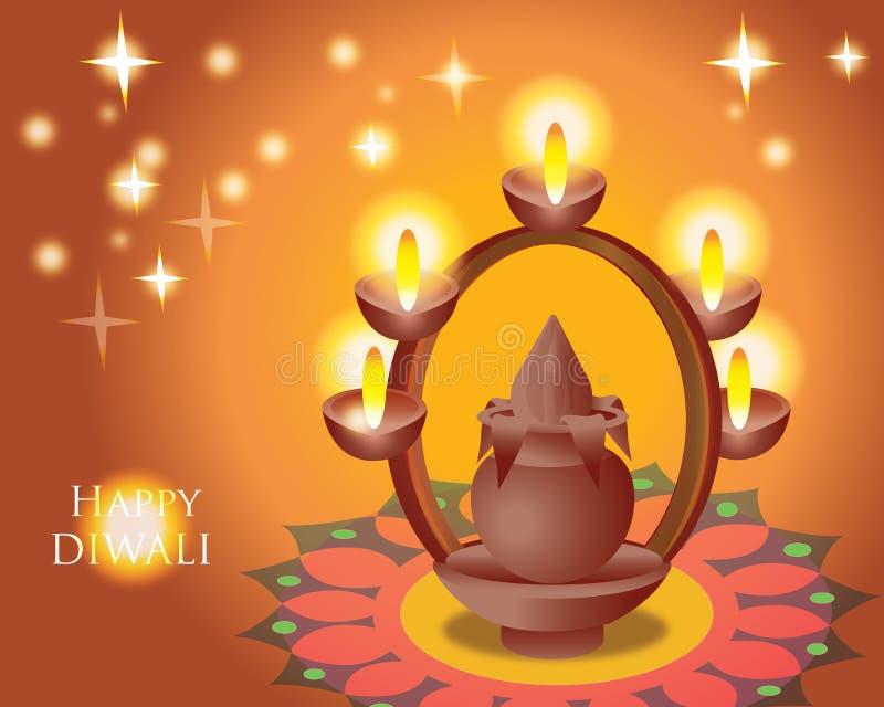 Illustratie van Indisch Diwali-festival stock afbeelding