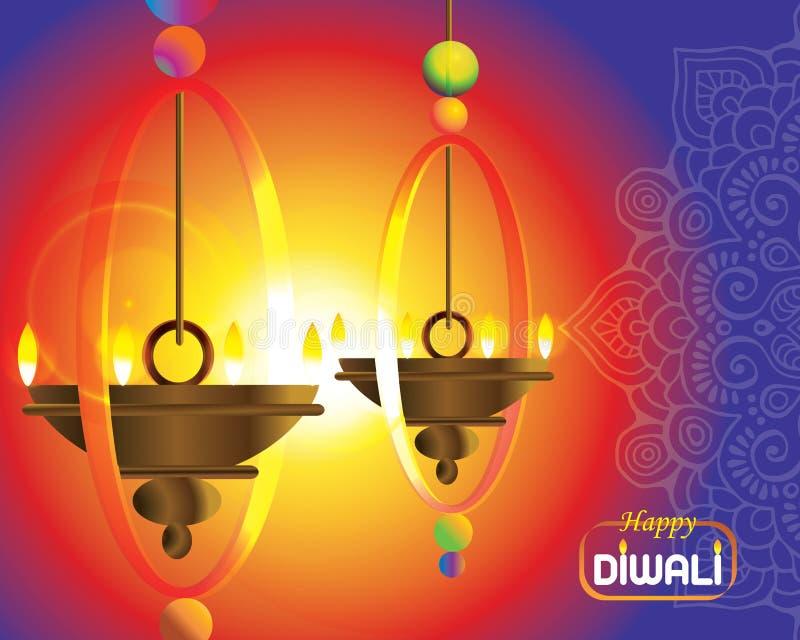 Illustratie van Indisch Diwali-festival royalty-vrije stock afbeeldingen