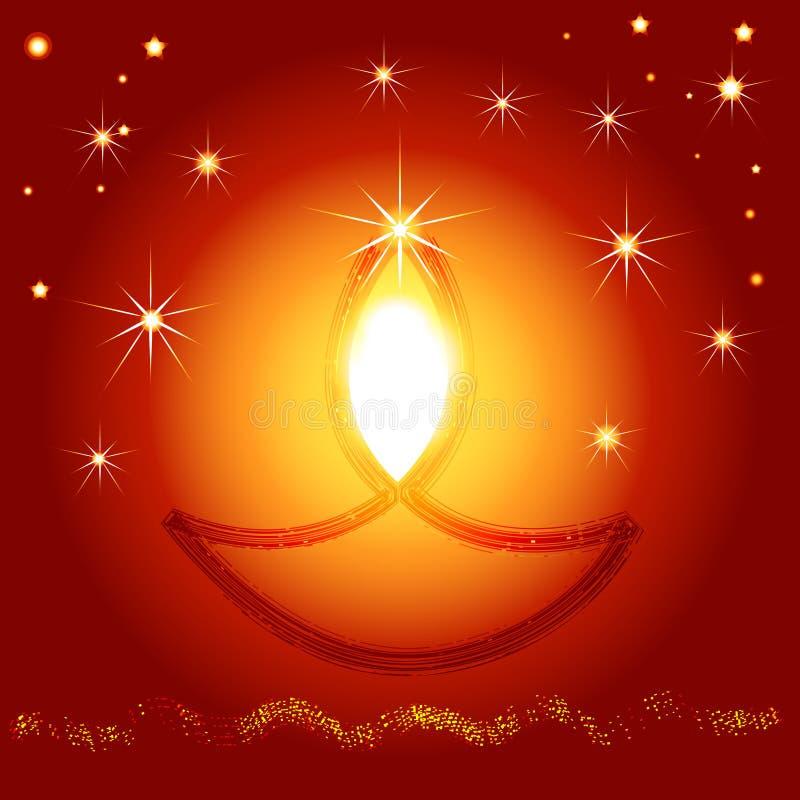 Illustratie van Indisch Diwali-festival stock foto