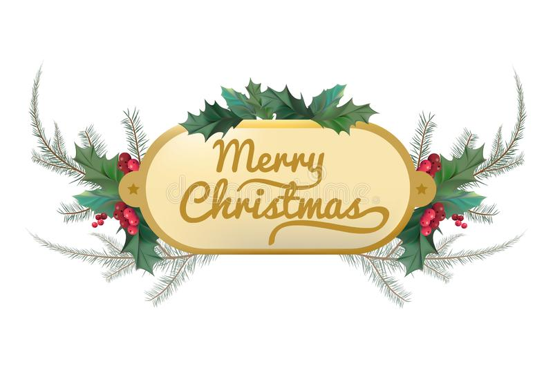 Illustratie van Kerstmisbanner op witte achtergrond vector illustratie