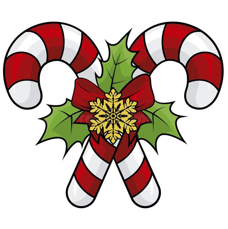 illustratie van Kerstmissnoepjes stock fotografie