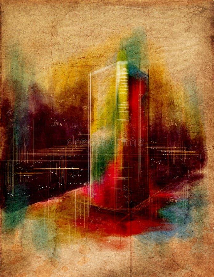 Illustratie van kleurrijke dromerige architectuur royalty-vrije illustratie