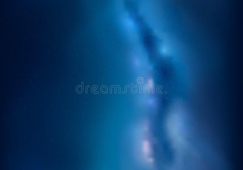 illustratie van kosmische ruimte en Melkweg De hemel en de sterren van de nacht abstracte achtergrond Ster van de heelal de satel royalty-vrije illustratie