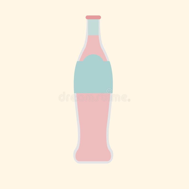 Illustratie van koude geïsoleerde drankfles royalty-vrije illustratie
