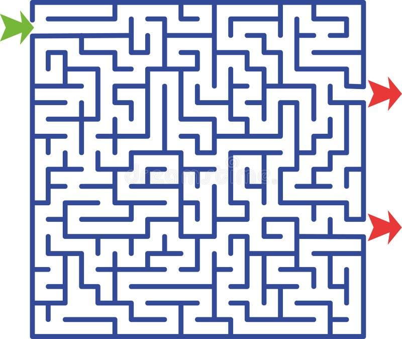 Illustratie van labyrint   stock illustratie