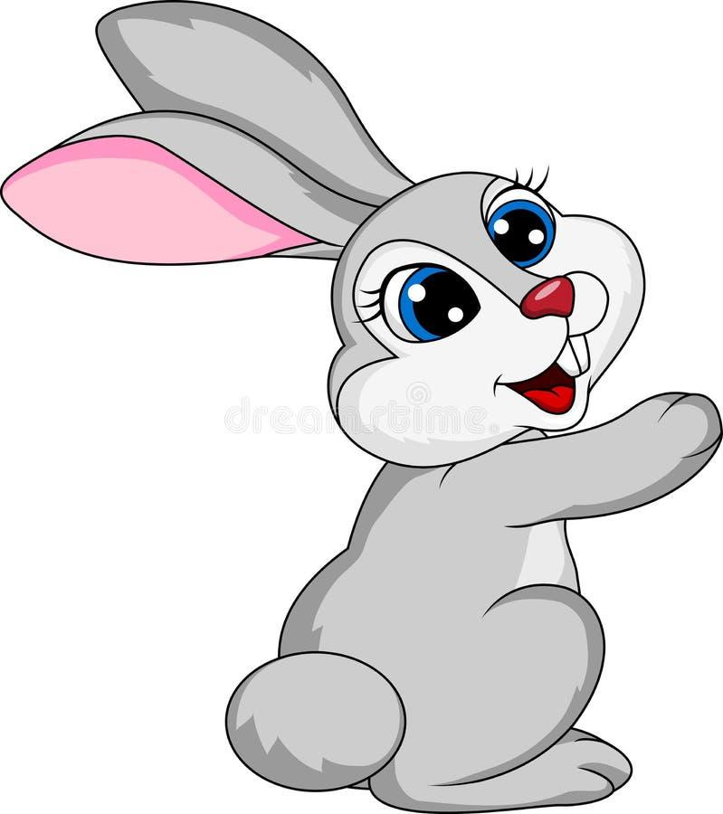 Leuk konijnbeeldverhaal royalty-vrije illustratie