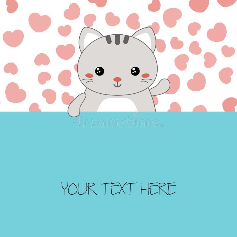 Illustratie van leuke katten royalty-vrije illustratie