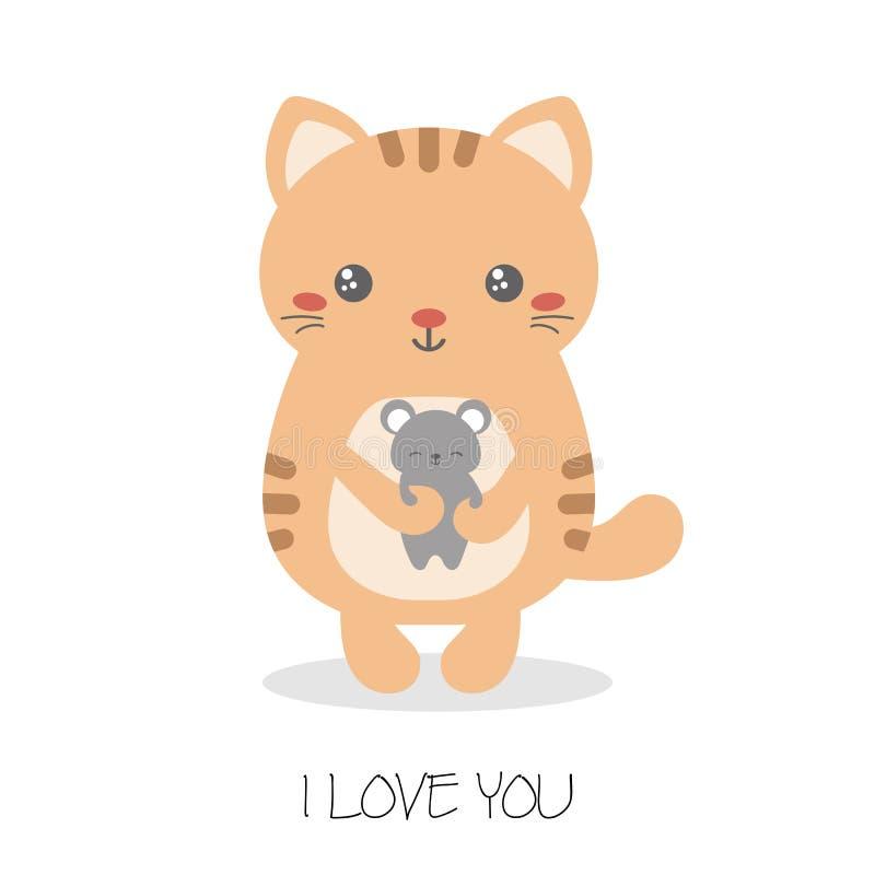 Illustratie van leuke katten vector illustratie