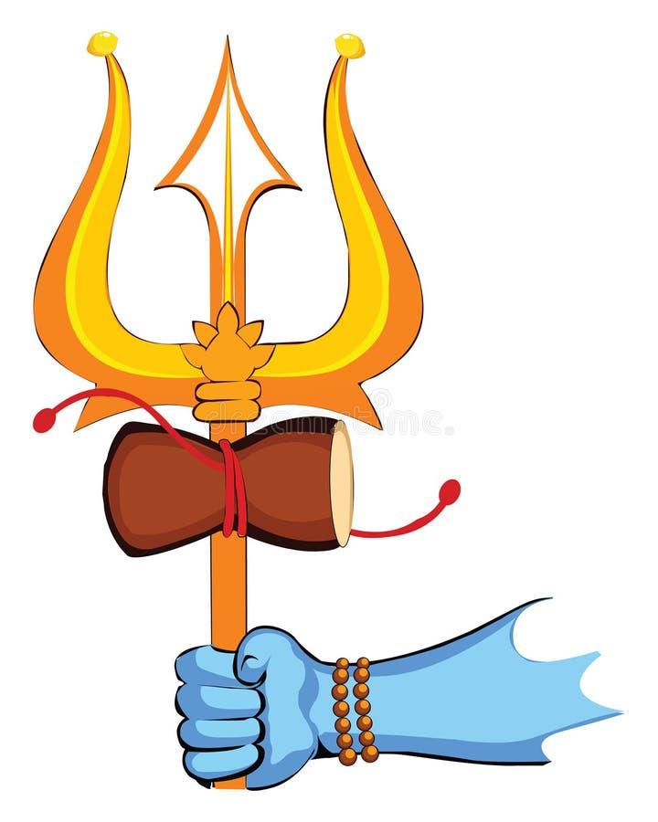 Illustratie van Lord Shiva, Indische God, Shivratri of Mahashivratri - Vector vector illustratie