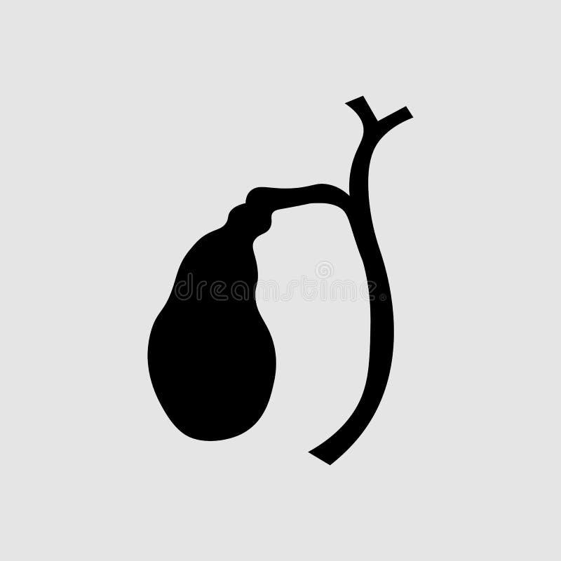 Illustratie van Menselijke gallbladder anatomie Dyskinesia van de gallandstreek stock foto