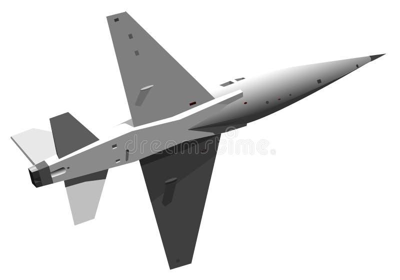 Illustratie van militaire straal stock illustratie